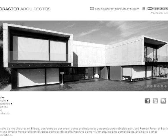 Web Foraster Arquitectos