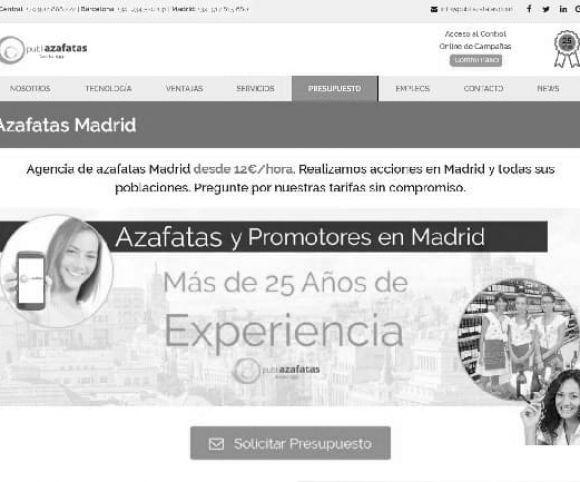 Azafatas eventos Madrid